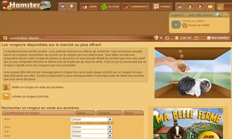 HamsterStory - Comprar un roedor en una subasta y otras interacciones